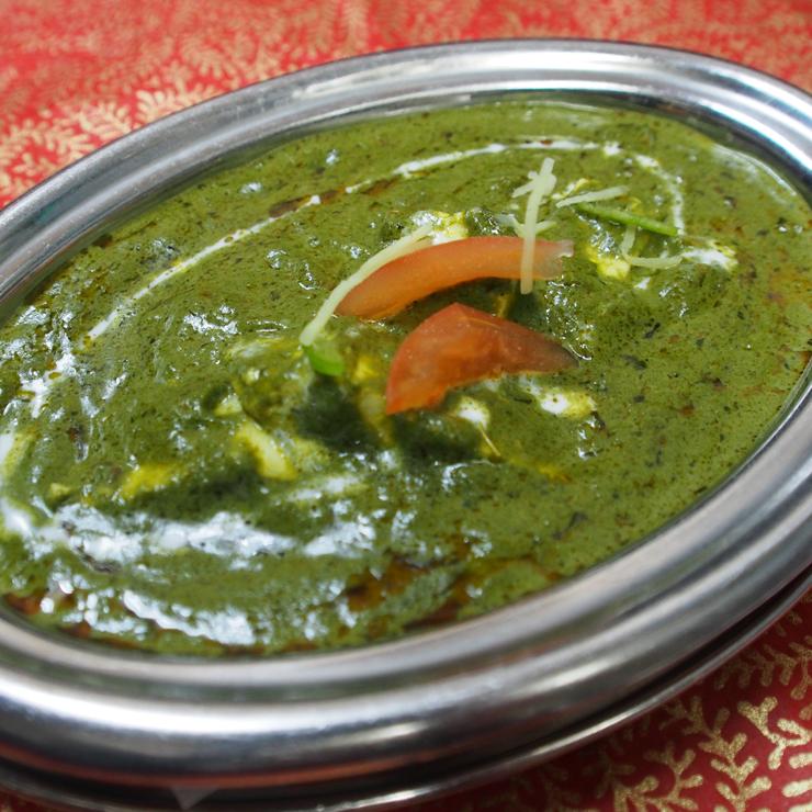 奈良王寺の本格インド料理 Mayur -マユール- ほうれん草カレー