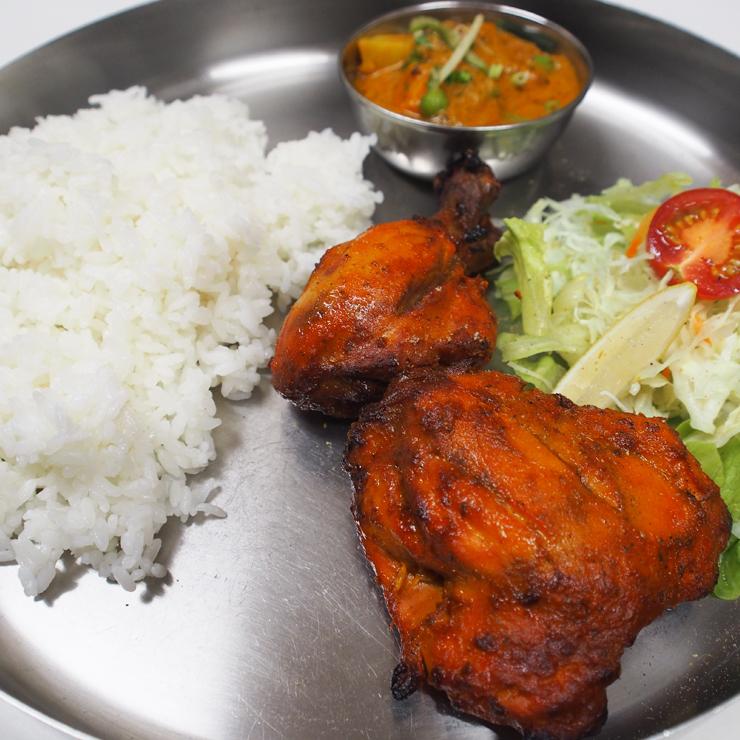 奈良王寺のインド料理 Mayur -マユール- タンドリーチキンランチ